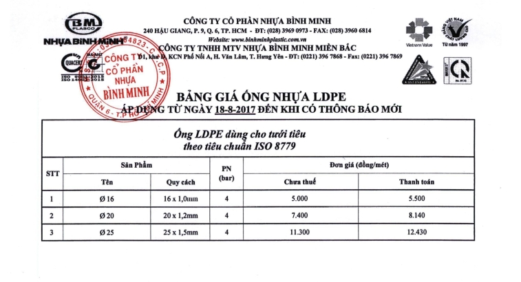 Ống LDPE