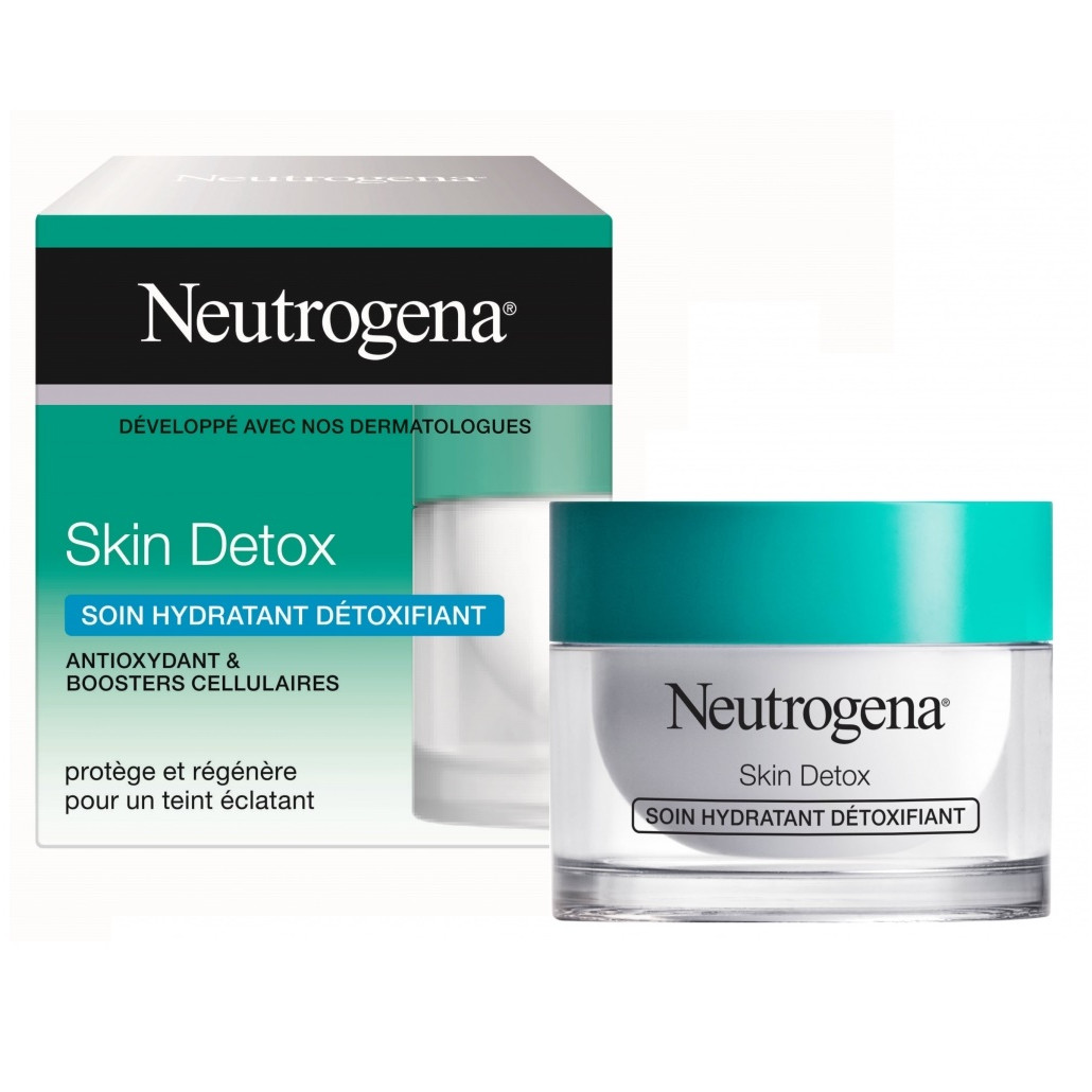 Kem Dưỡng Thải Độc Phục Hồi Da Neutrogena Skin Detox Soin Hydratant Détoxifiant 50ml