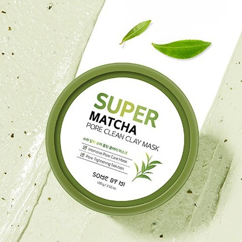 Mặt nạ đất sét làm sạch lỗ chân lông SOMEBYMI Super Matcha Pore Clean Clay Mask 100g