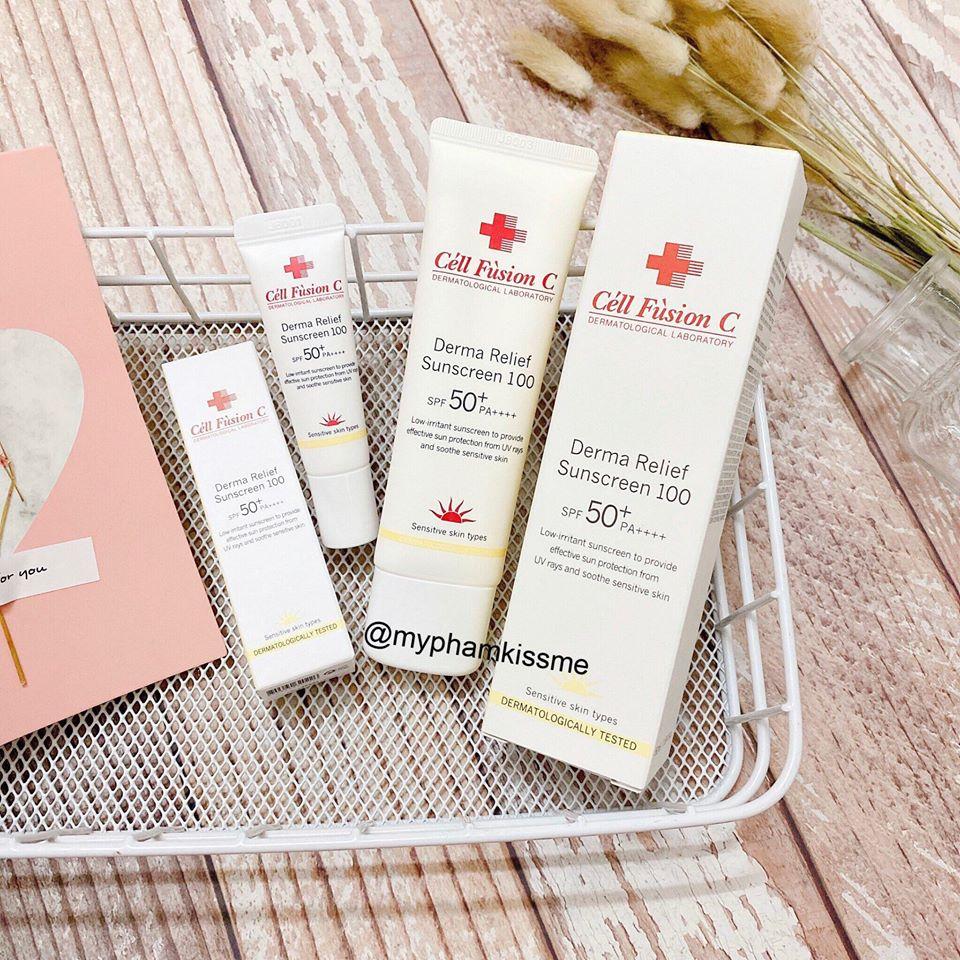 Kem Chống Nắng Cho Da Nhạy Cảm Cell Fusion C Derma Relief Suncreen 100 SPF50+/PA++++