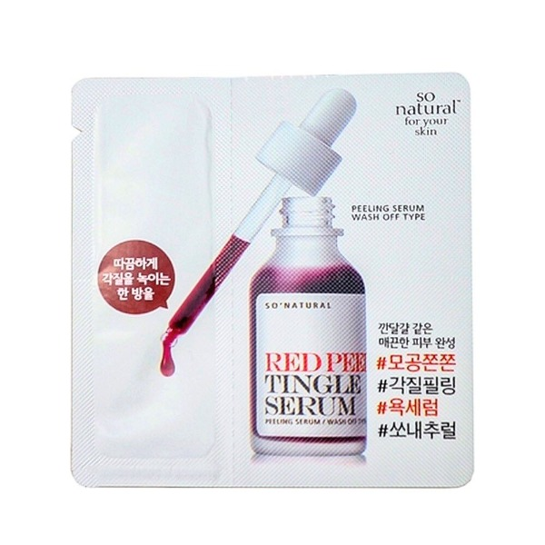 Sample tinh chất tái tạo da So'Natural Red Peel Tingle Serum