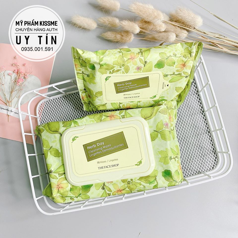 Khăn Giấy Tẩy Trang The Face Shop Herb Day Cleansing wipes