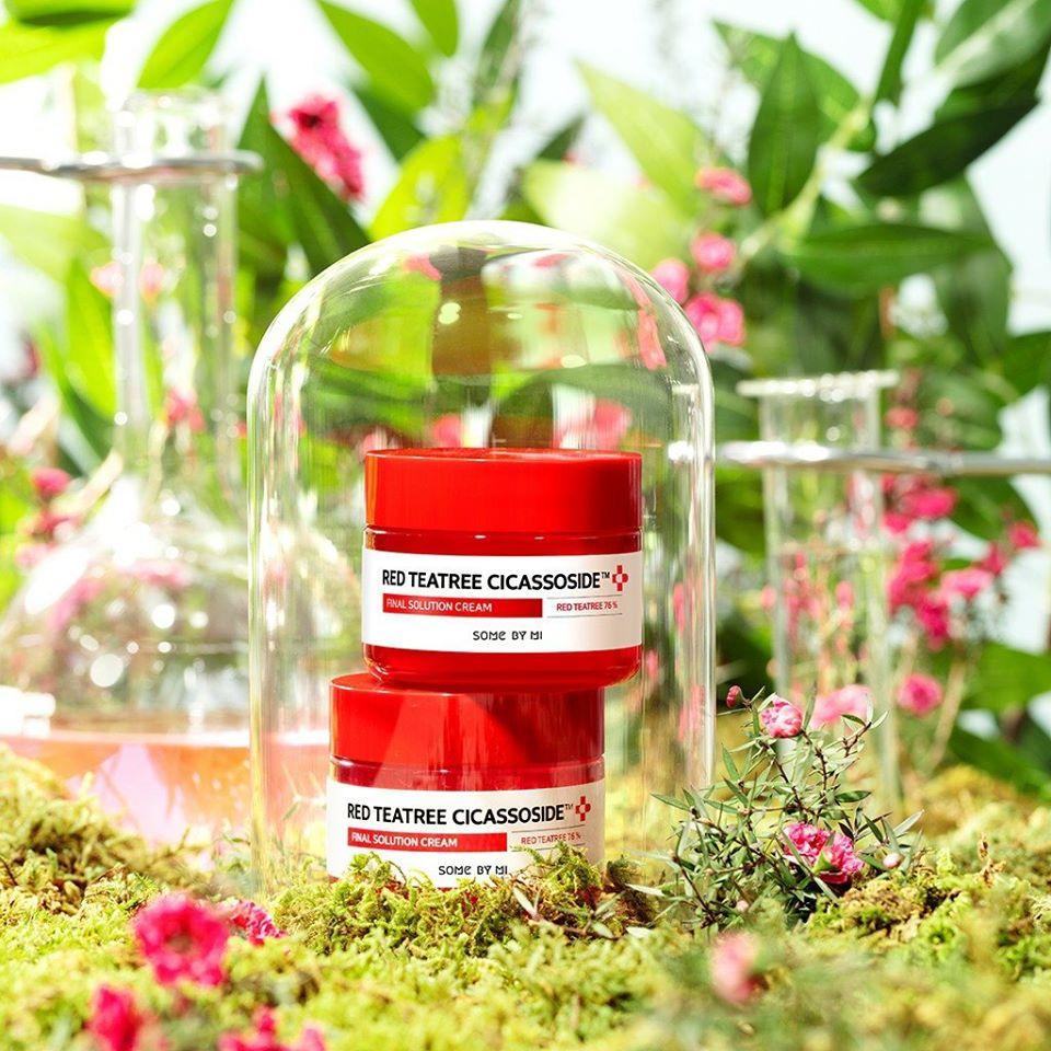 Kem Dưỡng Làm Dịu, Phục Hồi Cho Da Siêu Nhạy Cảm Chiết Xuất Tràm Trà Đỏ Some By Mi Red Teatree Cicassoside Final Solution Cream