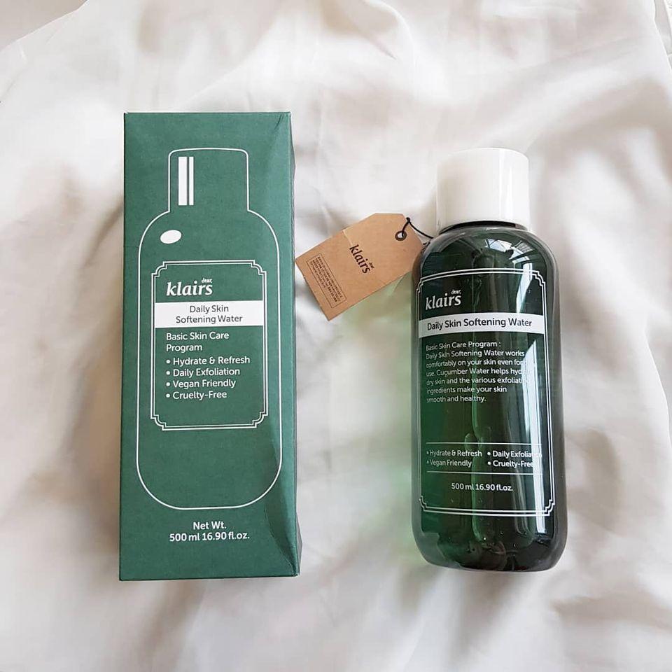 Nước Hoa Hồng Loại Klairs Daily Skin Softening Water 500ml