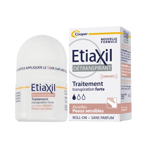 Lăn khử mùi cơ thể Etiaxil Detranspirant Traitement Confort + Aisselles Peaux Sensibles (Nâu)