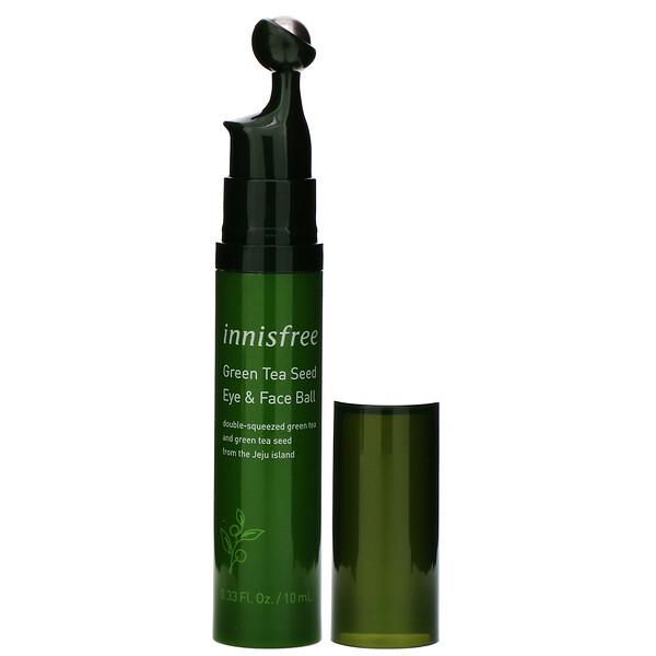 Bút Dưỡng Và Massage Vùng Da Mắt, Giúp Ngăn Ngừa Nếp Nhăn Chiết Xuất Từ Hạt Trà Xanh Innisfree Green Tea Seed Eye & Face Ball
