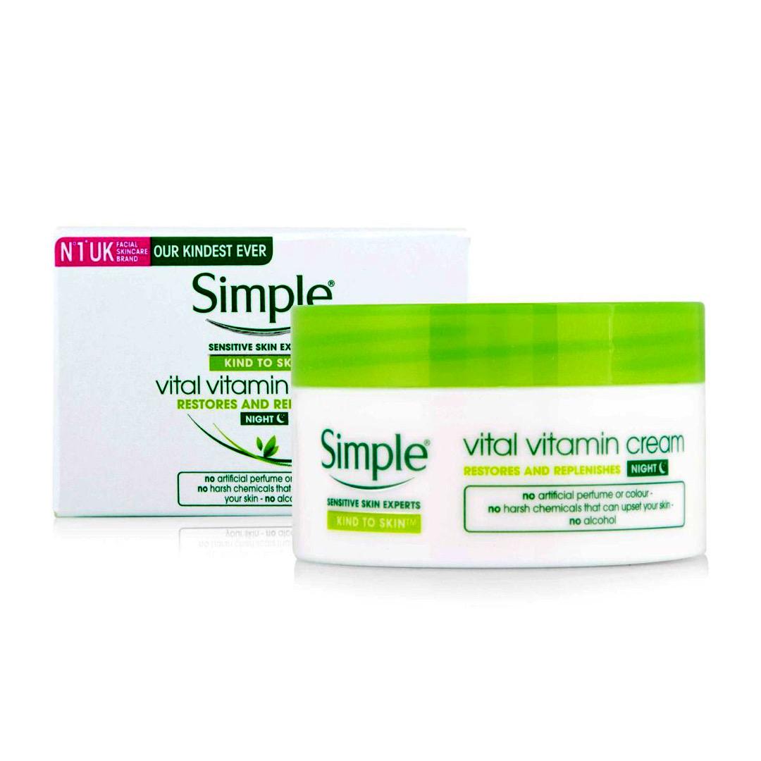 Kem dưỡng da ban đêm Simple Vital Vitamin Night Cream