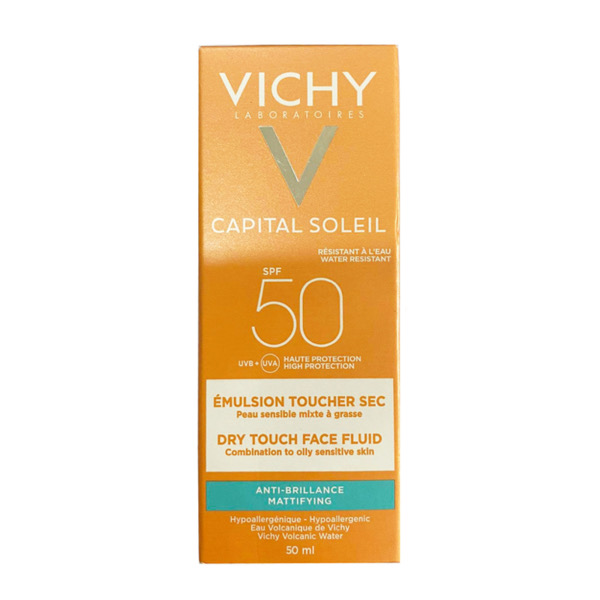 Kem Chống Nắng Vichy Idéal Soleil Mattifying Face Fluid Dry Touch SPF50