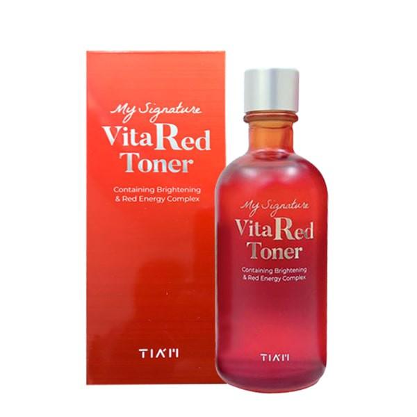Nước Hoa Hồng Dưỡng Trắng, Se Khít Lỗ Chân Lông Tiam My Signature Vita Red Toner