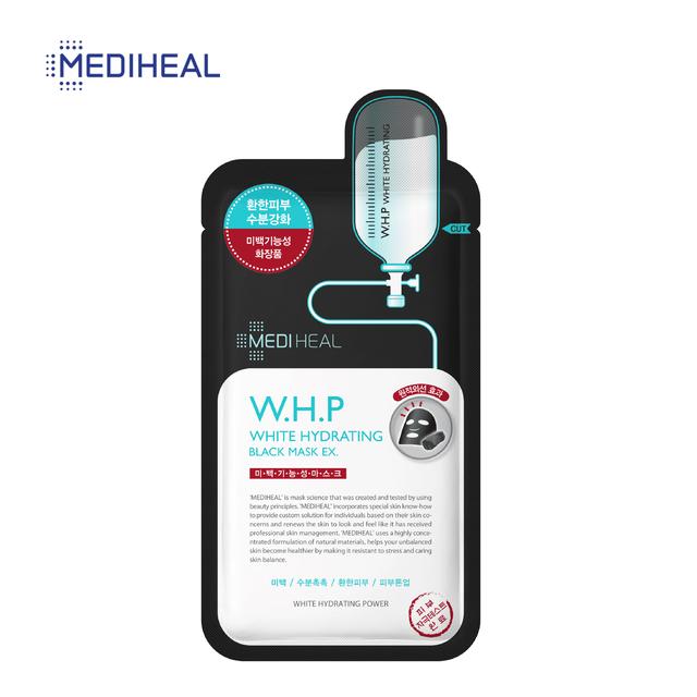 Mặt Nạ Than Hoạt Tính Giúp Mờ Thâm Sạm, Dưỡng Trắng Da Mediheal W.H.P White Hydrating Black Mask