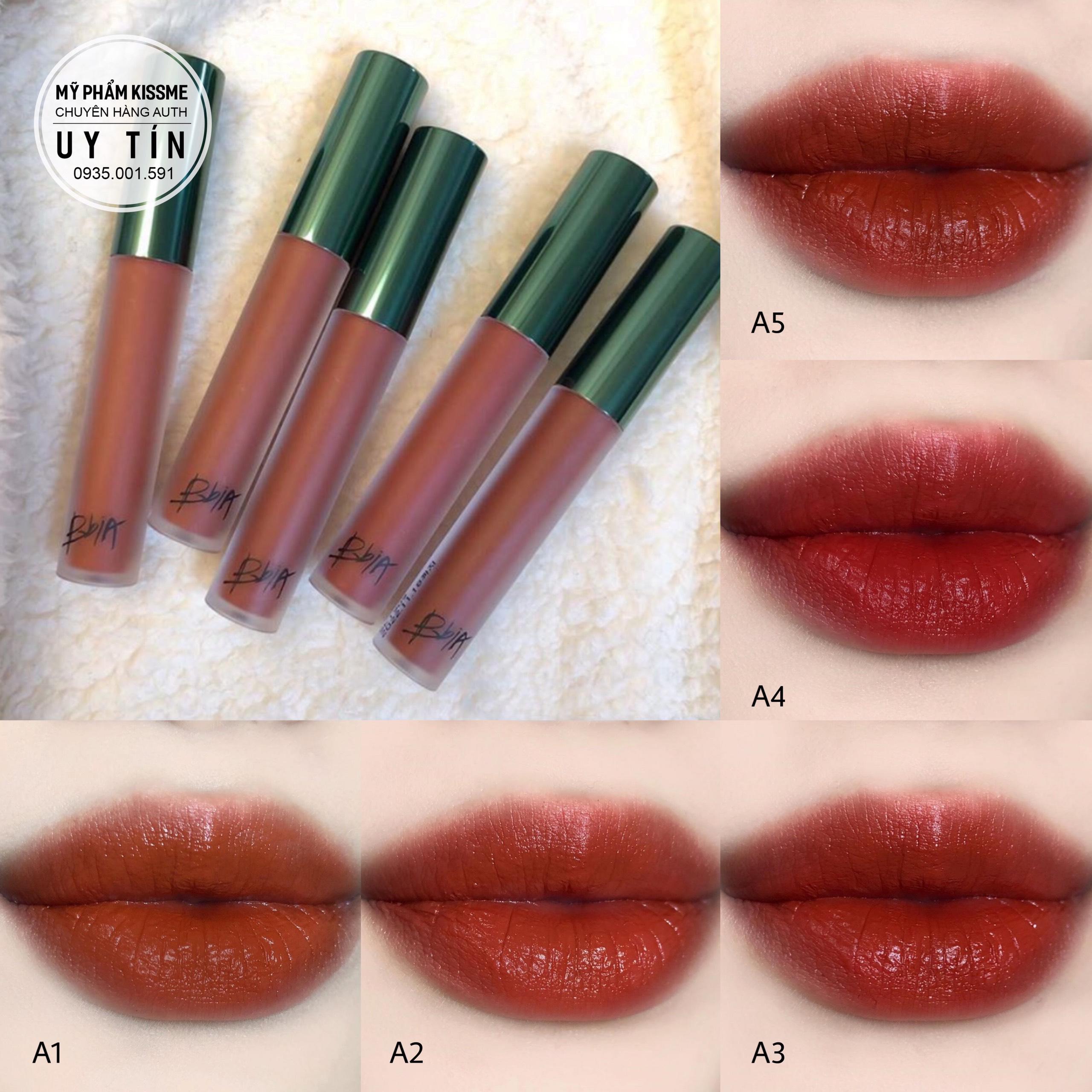 Son kem lì, lên màu chuẩn Bbia Last Velvet Lip Tint Asia Edition