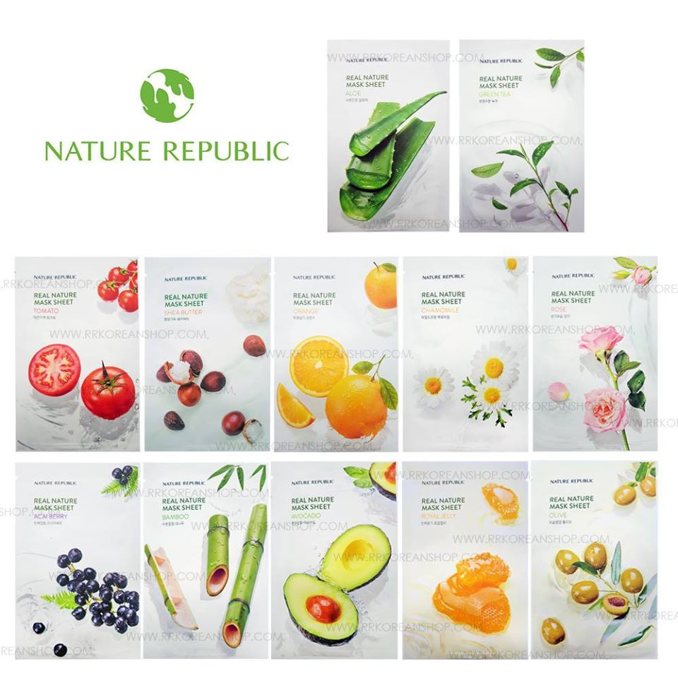 Mặt Nạ Giấy Nature Republic Real Nature Mask Sheet