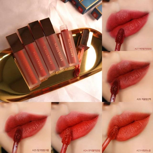 Son kem lì Black Rouge Air Fit Velvet Tint Version 5 [A23-A27]