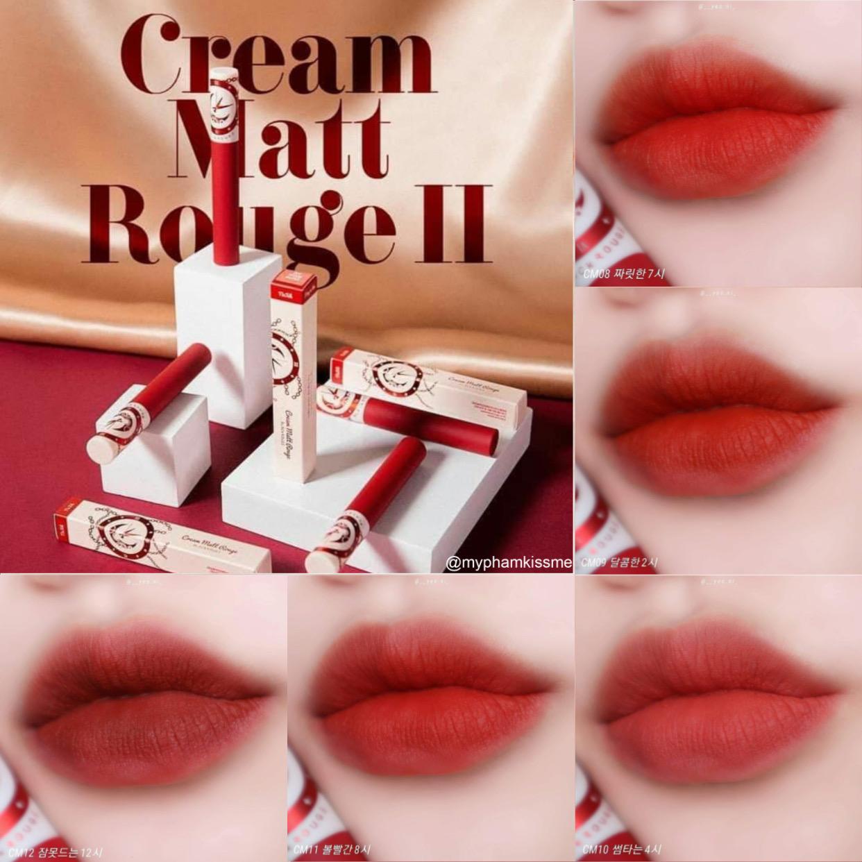 Son kem Black Rouge Cream Matt Rouge II