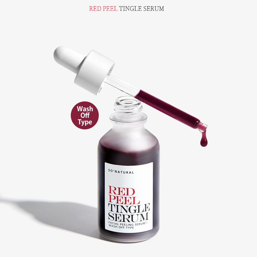 Tinh chất tái tạo da So'Natural Red Peel Tingle Serum