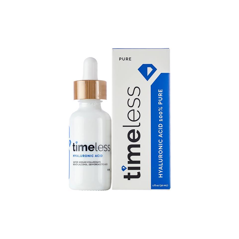 Tinh chất dưỡng ẩm, cấp nước Timeless Hyaluronic Acid 100% Pure 60ml