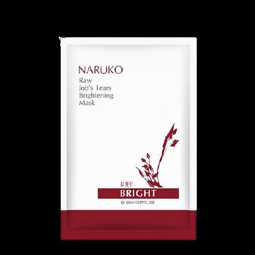 Mặt nạ giấy thu nhỏ lỗ chân lông, làm trắng da Naruko Raw's Jobs Tear Supercritical CO2 Pore Minimizing & Brightening Mask