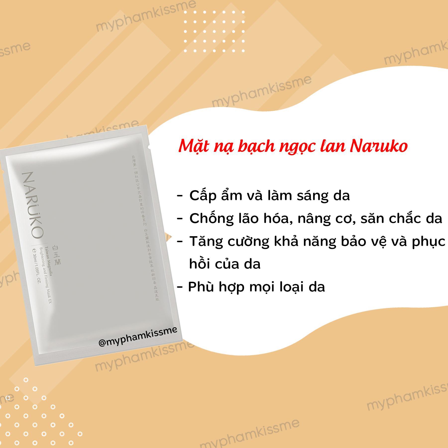 Mặt nạ giấy dưỡng trắng Naruko Taiwan Magnolia Brightening and Firming Mask EX