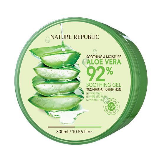 Gel dưỡng đa năng Lô Hội Nature Republic Soothing & Moisture Aloe Vera 92% Soothing Gel
