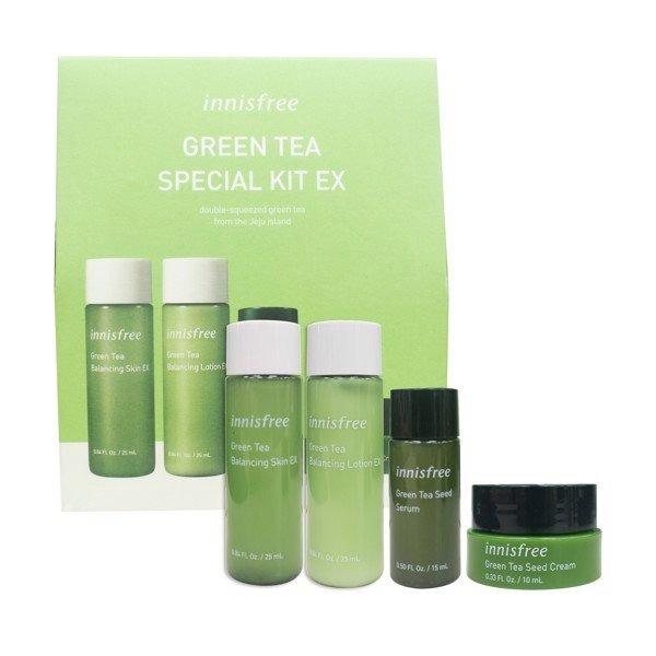 Kit Phục Hồi Da Mụn, Cấp Ẩm Cho Da Innisfree Green Tea Special Kit EX (4 items)