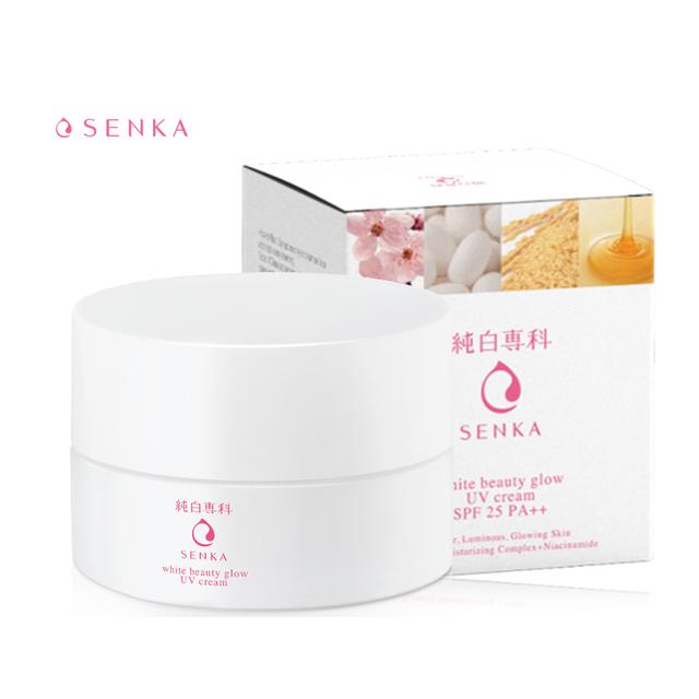 Kem dưỡng trắng da chống nắng ban ngày Senka White Beauty Glow UV Cream SPF 25 PA ++