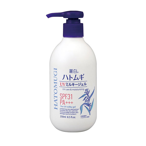 Sữa Dưỡng Thể Chống Nắng Dưỡng Trắng Da Hatomugi UV Care & Moisturizing The UV Milky Gel SPF 31/PA+++ 250ml