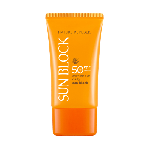 Kem chống nắng dưỡng ẩm Nature Republic california aloe daily sun block SPF50+ PA++++