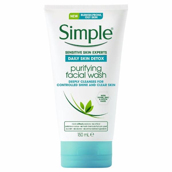Tẩy da chết Simple Daily Detox Pore Scrub 150ml