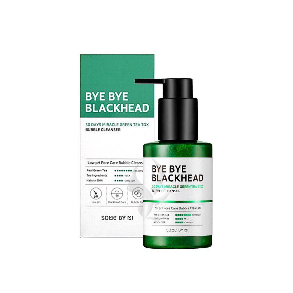 Sữa rửa mặt sủi bọt trị mụn đầu đen Some By Mi Bye Bye Blackhead 30 Days Miracle Green Tea Tox Bubble Cleanser