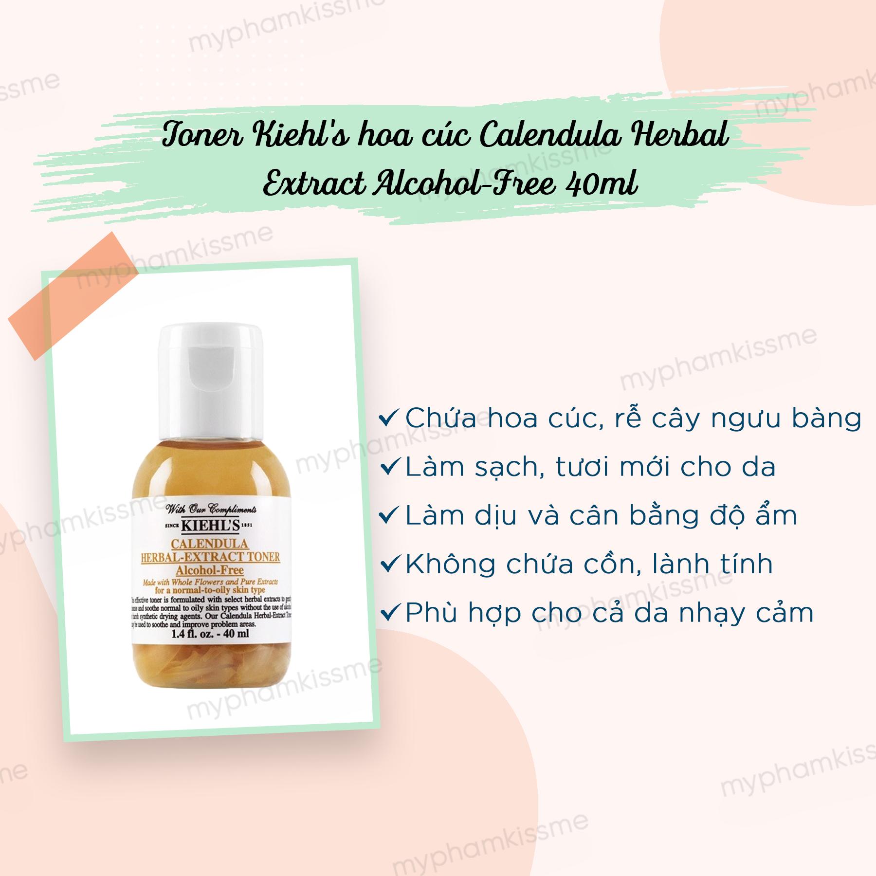 Toner Hoa Cúc Calendula Herbal Extract Alcohol-Free Toner 40ml