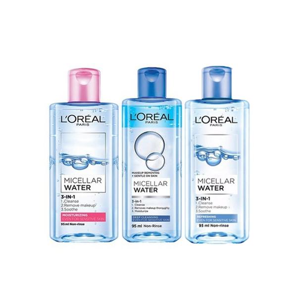 Nước Tẩy Trang L'Oreal Paris 3-In-1 Micellar Water 95ml
