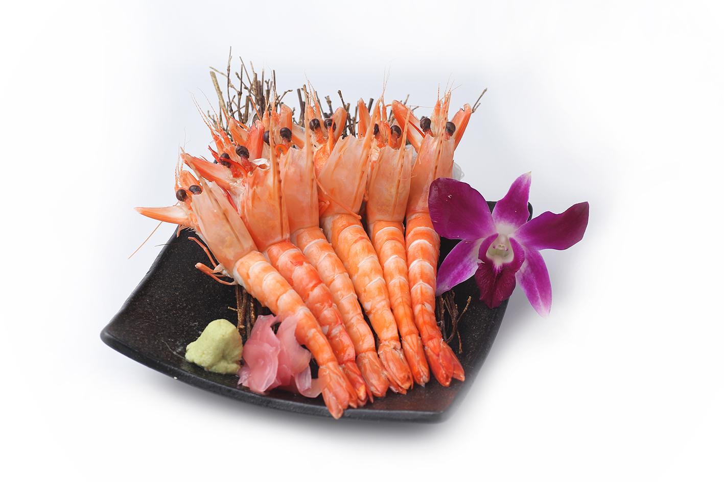 Sashimi Tôm Sú Chín