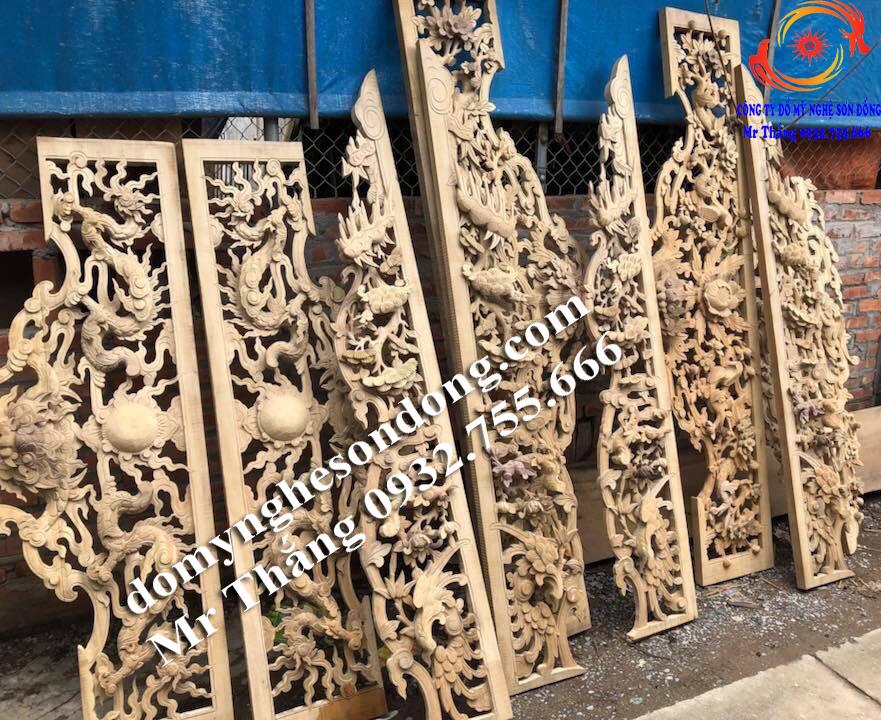 Mẫu cửa võng thờ gỗ đẹp cho tư gia, nhà thờ họ, đình chùa đền