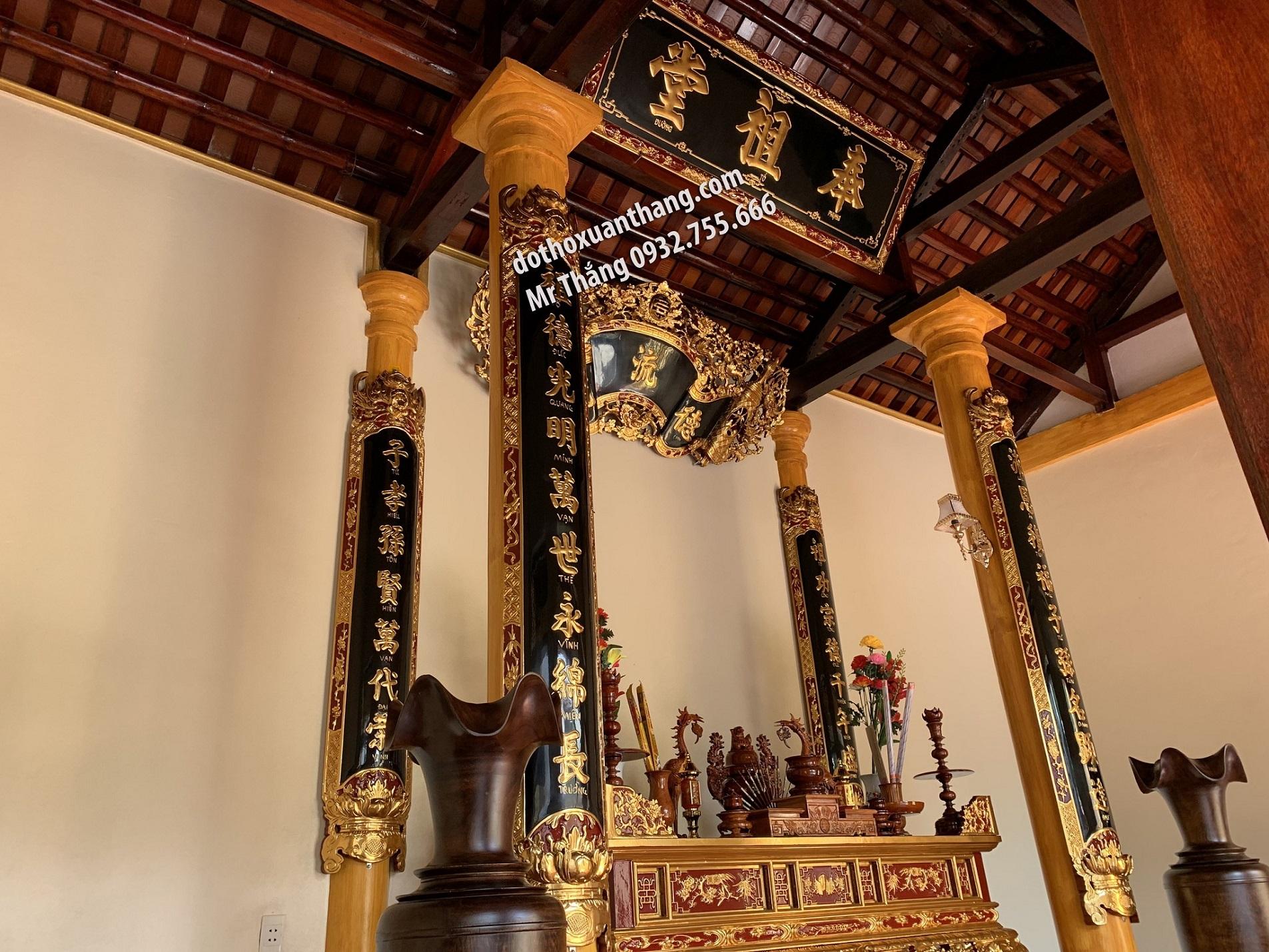 Mẫu hoành phi câu đối thờ bằng gỗ đẹp nhất hiện nay
