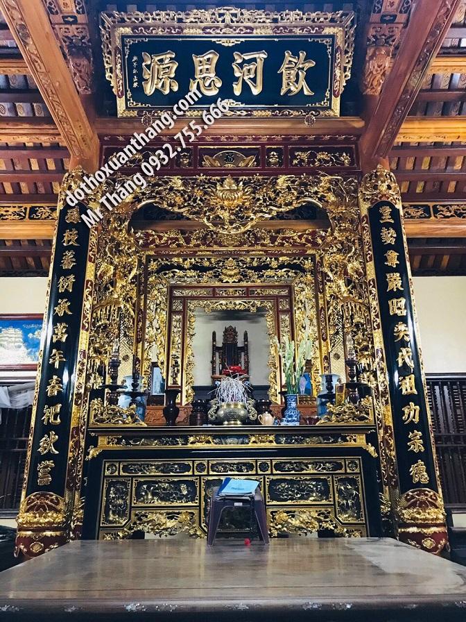 Đồ thờ cúng bằng gỗ sơn son thếp vàng được ưa chuộng nhất