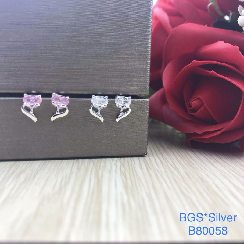 B80058 Bông tai bạc nữ đẹp độc lạ HCM