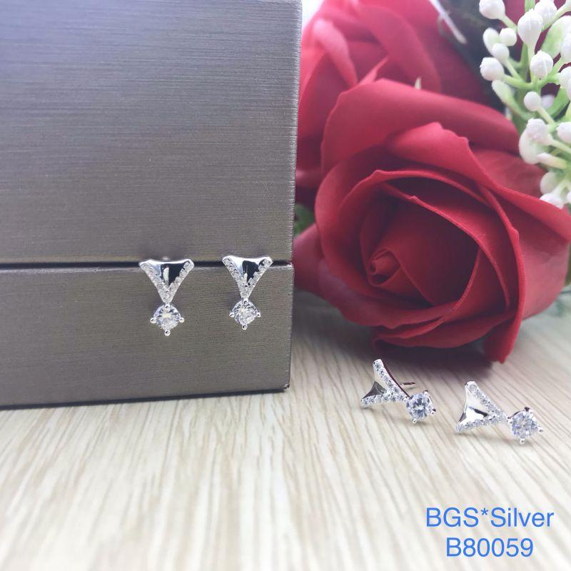 B80059 Bông tai bạc nữ đẹp độc lạ HCM