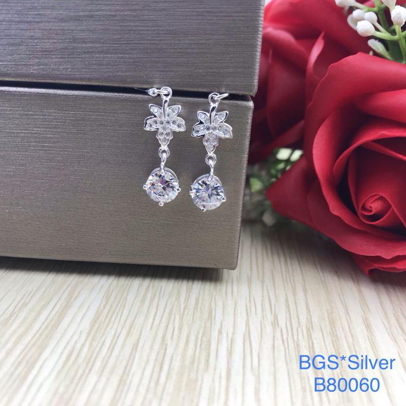 B80060 Bông tai bạc nữ đẹp độc lạ HCM