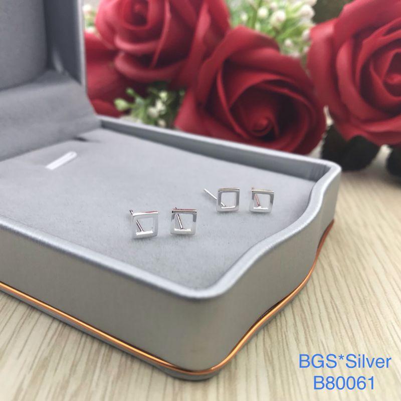 B80061 Bông tai bạc nữ đẹp độc lạ HCM