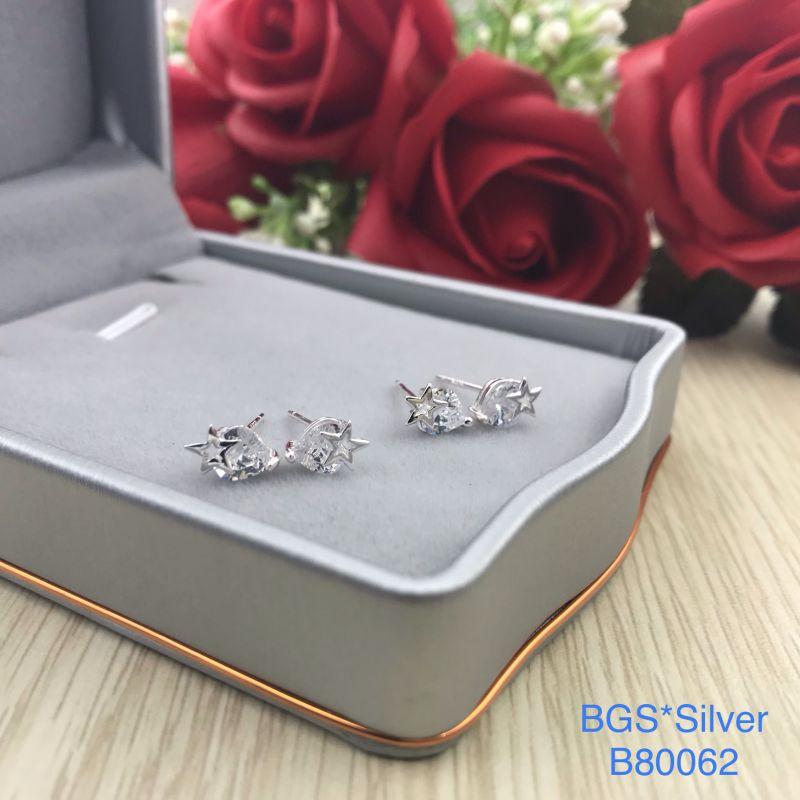 B80062 Bông tai bạc nữ đẹp độc lạ HCM