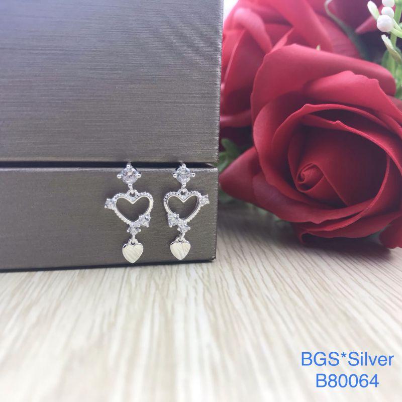B80064 Bông tai bạc nữ đẹp độc lạ HCM