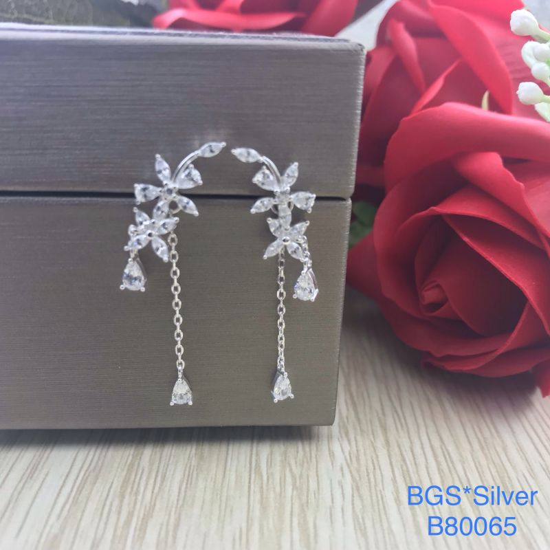 B80065 Bông tai bạc nữ đẹp độc lạ HCM