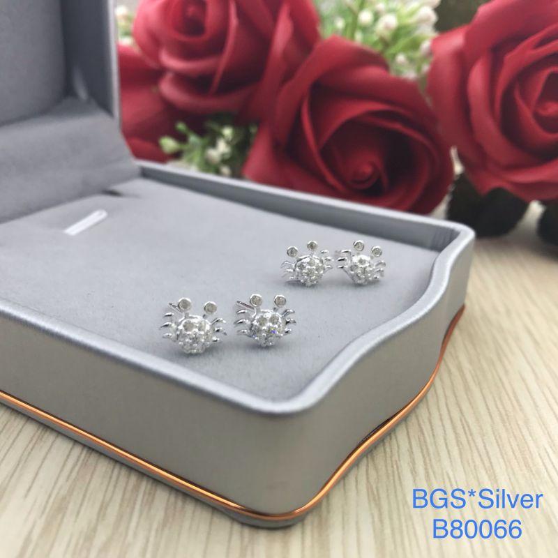 B80066 Bông tai bạc nữ đẹp độc lạ HCM