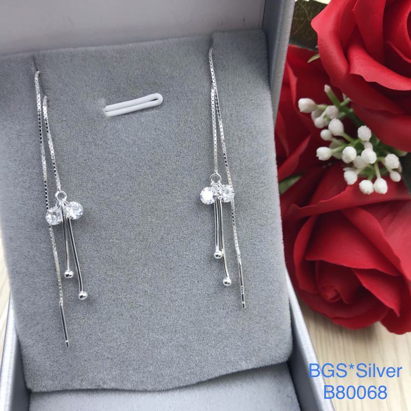B80068 Bông tai bạc nữ đẹp độc lạ HCM