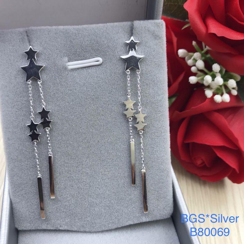 B80069 Bông tai bạc nữ đẹp độc lạ HCM