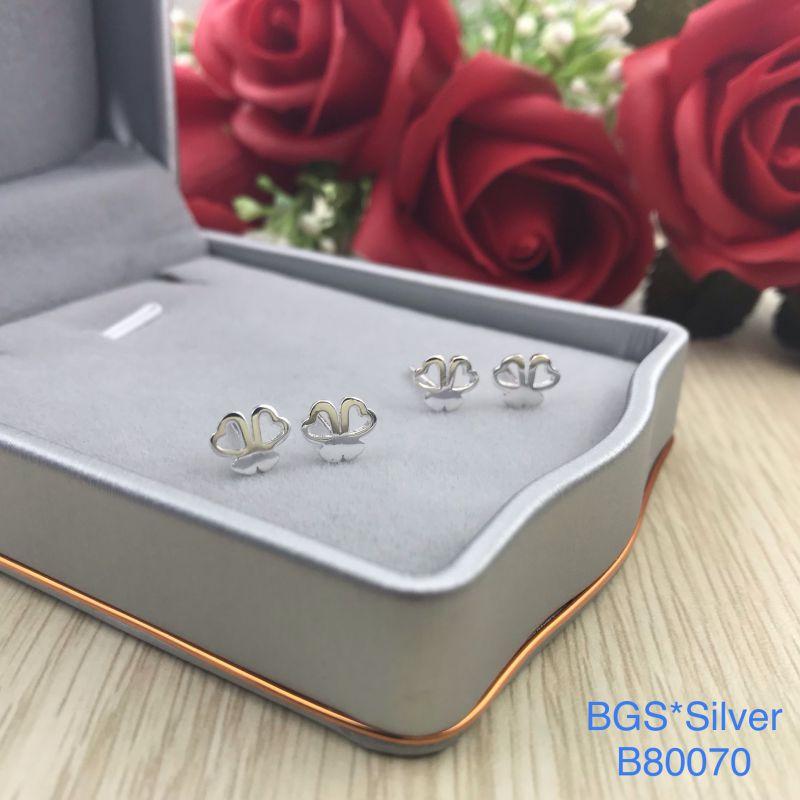 B80070 Bông tai bạc nữ đẹp độc lạ HCM