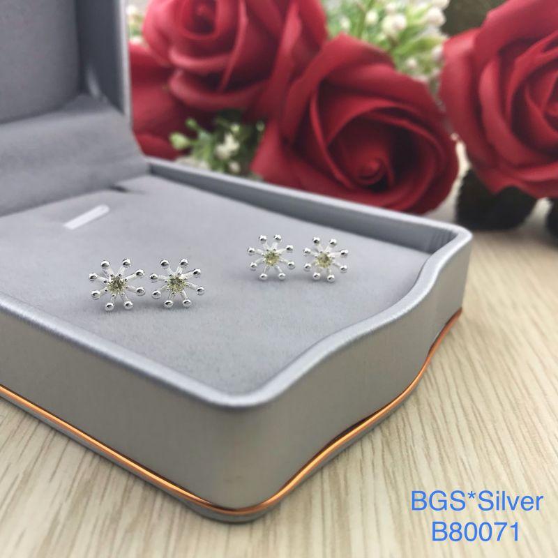 B80071 Bông tai bạc nữ đẹp độc lạ HCM