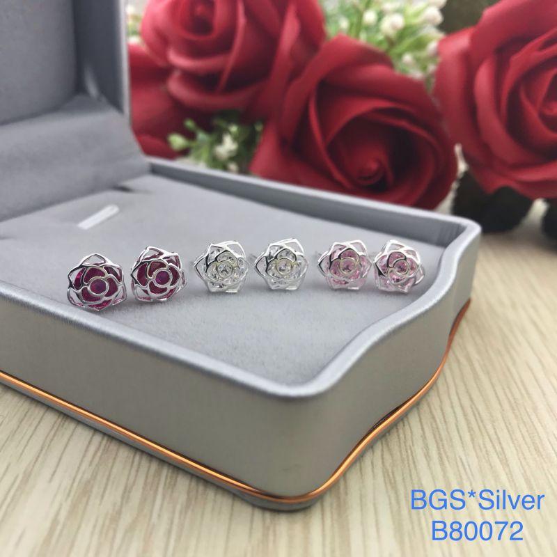 B80072 Bông tai bạc nữ đẹp độc lạ HCM