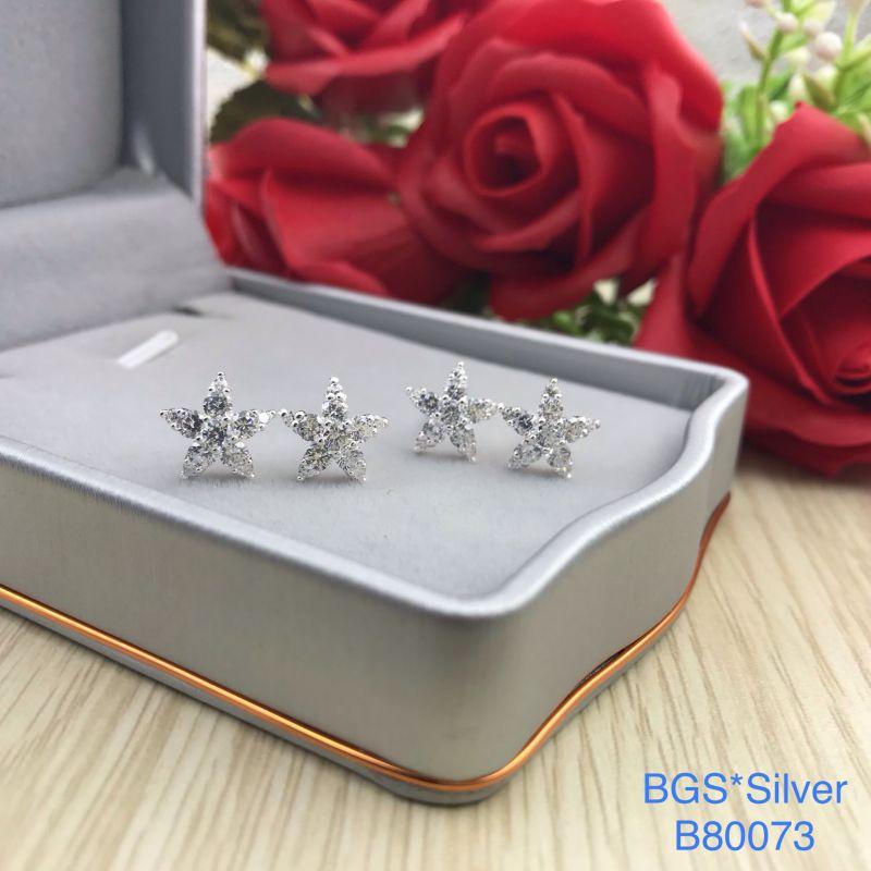 B80073 Bông tai bạc nữ đẹp độc lạ HCM