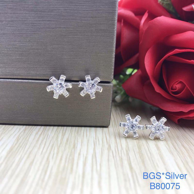 B80075 Bông tai bạc nữ đẹp độc lạ HCM